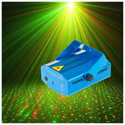Stage Laser Light  DJ Club Disco Projector Stage Laser Light Green Red Music Control Function AC 110-240V EU US UK AU Plug - DealsBlast.com