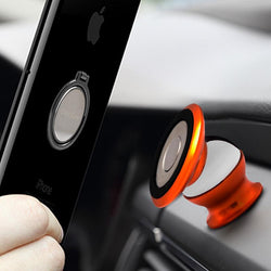 Universal Phone Holder Mobile Stand Metal Magnetic For iPhone5 5S 6 6S Phone Car Mount - DealsBlast.com