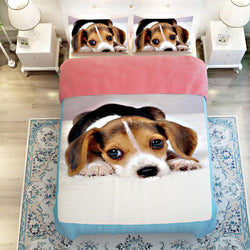 3D Bedding Sets Pet Dog Printed Twin Queen King Size 3/4pcs Cotton Polyester Bed Linen Bed Sheet Pillowcase Duvet Cover Set - DealsBlast.com