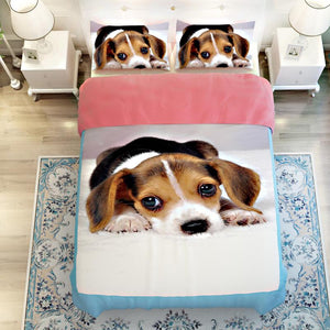 3D Bedding Sets Pet Dog Printed Twin Queen King Size 3/4pcs Cotton Polyester Bed Linen Bed Sheet Pillowcase Duvet Cover Set - Deals Blast