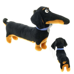 New Hot Toy Cartoon Dachshund Plush Black Sausage Buddy dog Toy Holiday Birthday Party Gifts for Kids 30*16 cm