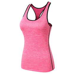 Running T-Shirt Gym Fitness Yoga Workout Tank Top Vest Women Quick-Dry Sports - DealsBlast.com