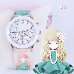 Waterproof Jelly Kids Watch For Girls Wristwatch Cartoon Children