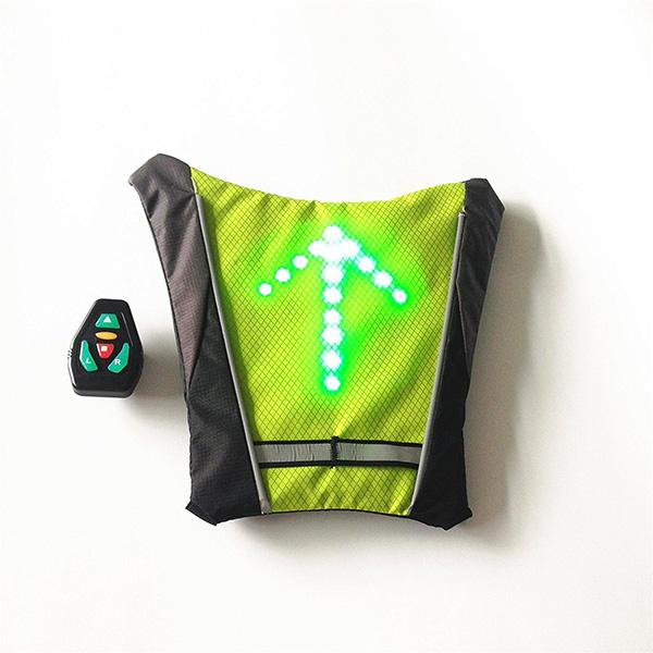 LED Turn Signal Light Reflective Vest Backpack Sport Outdoor Waterproof for Safety Night Cycling / Running / Walking - DealsBlast.com