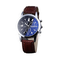 Men's  Fashion Business Leather Strap Quartz Watch - Deals Blast