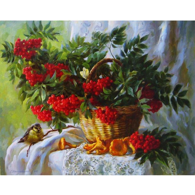 22 pattern 3d diy Diamond painting Cross Stitch kit Diamond Embroidery home decor flower animal landscape  mosaic picture  30X40 - DealsBlast.com