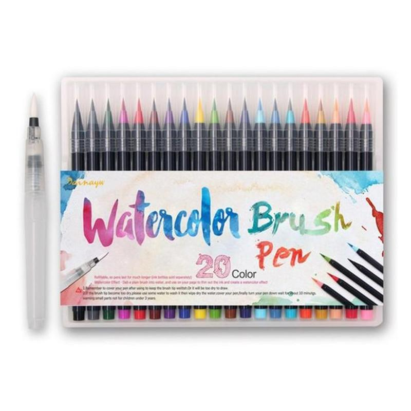 20 Colors Premium Painting Soft Brush Pen Set - DealsBlast.com