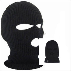 2017 Winter Outdoor Cycling Hedging Knitted Hat 3 Holes Special Acrylic Warm Solid Cap Headgear Full Face Mask - DealsBlast.com