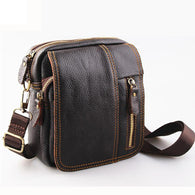 Leather man bag small genuine leather men messenger bags brand men shoulder bag men crossbody travel bags - DealsBlast.com