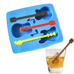 New Creative Silicone Ice Guitar Modeling System of Three  Ice Mold Random Color