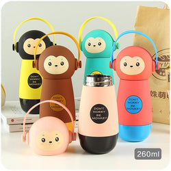 Hot Baby Bottles Eco-Friendly Kid Baby Cartoon Water Bottle Children Sport Bottle Cute Creative Thermo kettle For Outdoor School - DealsBlast.com