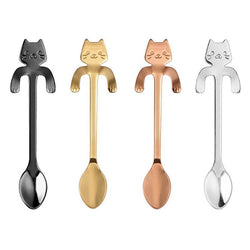 1pc Stainless Steel Coffee TeaSpoon With Cat Long Handle Spoons - DealsBlast.com