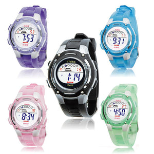 Swimming Sports Digital Waterproof Wrist Watch Children Boys Girls