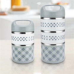 2 Layers Portable Stainless Steel Insulation Bento LunchBox Children's Tableware Thermal Food Container Food Box Lunchbox - DealsBlast.com