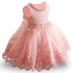Toddler Girls Baby Girl Princess tutu Dress Flower Lace Princess Children Bridemaid Dress For Wedding Girls Party Prom Dresses - DealsBlast.com