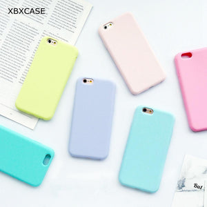 Color TPU Silicone Frosted Matte Case for iPhone 6 6S 5 5S SE 8 Plus X Soft Back Cover for iPhone 7 7Plus - DealsBlast.com