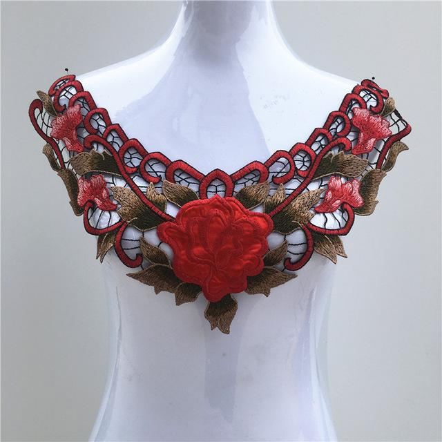 1Pc Color Lace Fabric Dress DIY Neckline Collar Costume Decoration - DealsBlast.com
