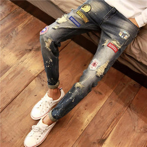 Spring And Autumn Male Jeans Long Pants Tide - DealsBlast.com
