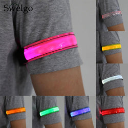 Outdoor Sports light Night Running Light Safety Jogging Led Arm Leg Warning Portable Wristband Riding Bike Bicycle Party Glowing - DealsBlast.com