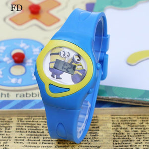 Cartoon Pattern Girls Children Sports Watch Digital Wristwatch for Boys Kids - DealsBlast.com