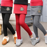 New Winter Girl Legging Skirt Pant Baby Girl Winter Warm Thickening Leggings Children Girls Bootcut For 3-12 Kids Clothes - DealsBlast.com
