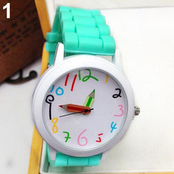 Fashion Unisex Student Wristwatch Silicone Strap Analog Quartz Wrist Watch Gift - DealsBlast.com