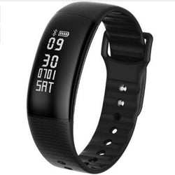 A69 Smart Bracelet Watch Bluetooth 4.0 Waterproof Sports Wristband Pedometer Blood Pressure Heart Rate Monitor Call/ SMS Reminder Remote Camera For Android 4.4 IOS 8.0 - DealsBlast.com