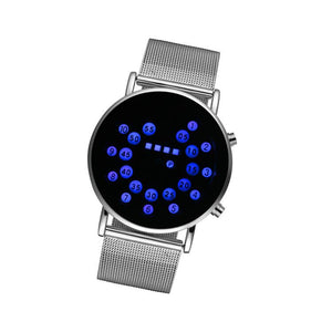Creative Waterproof Stainless Steel Ball-bearing LED Wrist Watch Electronic Digital Watch - DealsBlast.com