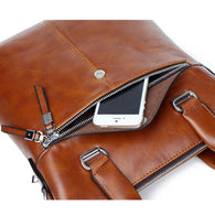 New Fashion Leather Bags for Men famous brand Men's Shoulder Bag Leather Messenger Bag briefcase business - DealsBlast.com