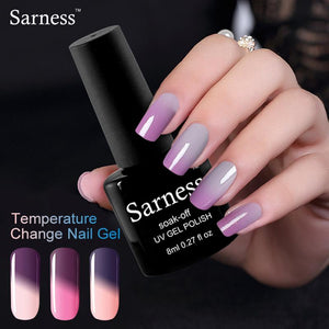 Temperature Changing Nail Gel Polish Color UV Gel Nail Polish Nail LED Soak Off Long Lasting Thermo Gel Varnish