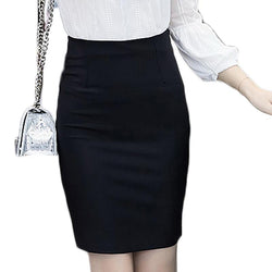6d2b2a74aa Slim Sexy Formal Office Faldas Women Elastic High Waist Pencil Skirt -  DealsBlast.com