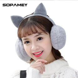 Female Winter Earmuff Warm Ear Muffs Headphones Girls Earmuffs High Quality Cat Shape Earmuff for Women Earmuff Protection Ear - DealsBlast.com