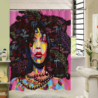 Shower Curtain Custom Waterproof Bathroom African Woman Polyester Fabric Bathroom Curtain High Quality