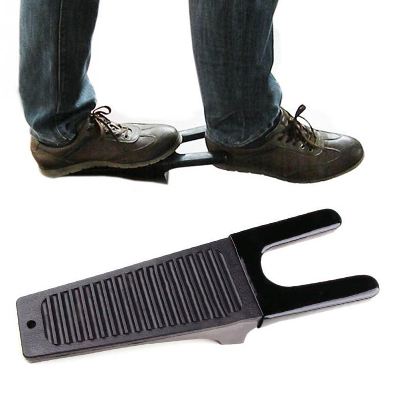 1Pc Black Boot Jack Puller Shoe Foot Scraper Cleaner Remover Camping Outdoor Tool - DealsBlast.com