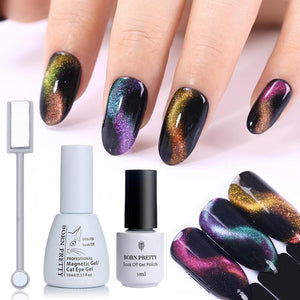 BORN PRETTY 3D Chameleon Cat Eye Magnetic Gel Soak Off UV Gel Varnish Polish Magnet Board Nail Art Color for Nails