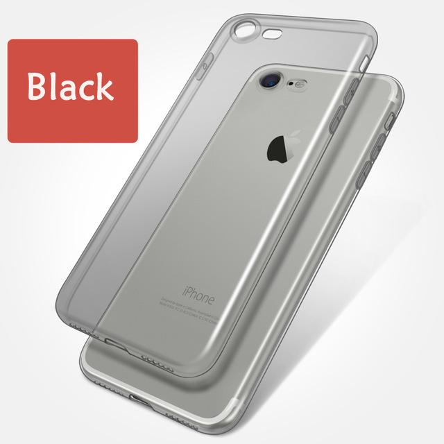 Ultra Thin Soft TPU Original Transparent Phone Case For iPhone X 6 6s 7 7Plus 6sPlus 8 8P Crystal Clear Silicon Cover