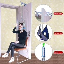 Door hanging cervical traction frame hanging neck traction home cervical spondylosis treatment tensioner for neck pain - DealsBlast.com