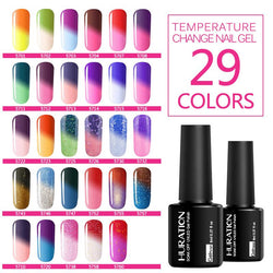 Huration 8ml Temperature Chameleon 29 Color UV LED Nail Gel Polish Long Lasting Gel Nail Varnish Semi permanent