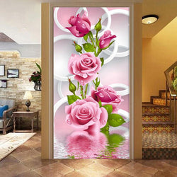 5D DIY Diamond Paintings Rose Cross Stitch Embroidery Flowers Embroidered Diamond Wall Stickers Home Decorated Gifts - DealsBlast.com
