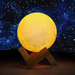 Night Light 3D Print Moon Lamp USB LED Moon light Gift Touch Sensor Color Changing Night Lamp Home Decoraton - DealsBlast.com