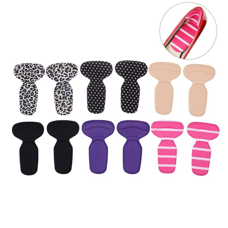 6 Pairs Self Adhesive Heel Pads Grips Liners T Shaped Back Heel Cushion Insoles for High Heels Blisters - DealsBlast.com