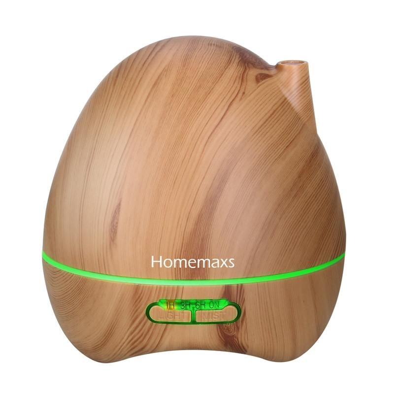 300ml Aroma Diffuser Wood Grain Aromatherapy Essential Oil Ultrasonic Cool Mist Humidifier with Color LED Lights Changing for Home Office Bedroom with JP-plug Adapter - DealsBlast.com