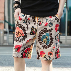 High quality pure cotton linen beach pants male quick-drying loose big yards 5 minutes of pants shorts short pant - DealsBlast.com
