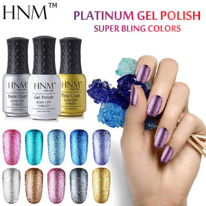HNM 8ML Glitter UV Gel Nail Polish Long Last LED Lamp Gel Polish Varnish Gel Lacquer Semi Permanent Gelpolish Nail Primer Gel