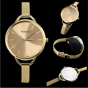 Women Wristwacth Luxury Silver Stainless Steel Classic Female Watch - DealsBlast.com