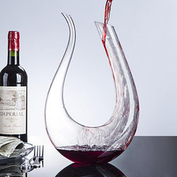 Handmade Crystal Red Wine Glass Decanter Jug 1500ml - DealsBlast.com