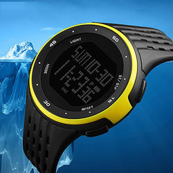 Luxury Brand Men's Digital Watches Casual Waterproof Stopwatch Week Date LED Display Digital Wrist Watch For Men - DealsBlast.com