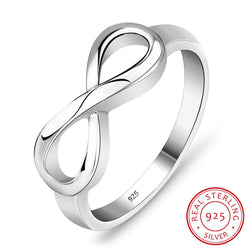 925 Sterling Silver Infinity Ring Eternity Ring Charms Best Friend Gift  Endless Love Symbol Fashion Rings For Women - DealsBlast.com