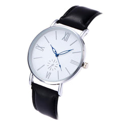 Retro Design Women Men Watches Fashion Casual Leather Strap Clock Lovers Luxury Quartz Wrist Watch - DealsBlast.com