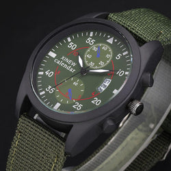 Russian Army Mens Big Face Canvas Strap Sports Watches